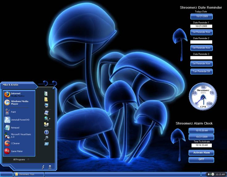 Desktop Themes Desktop Themes Shroomerz Full Theme