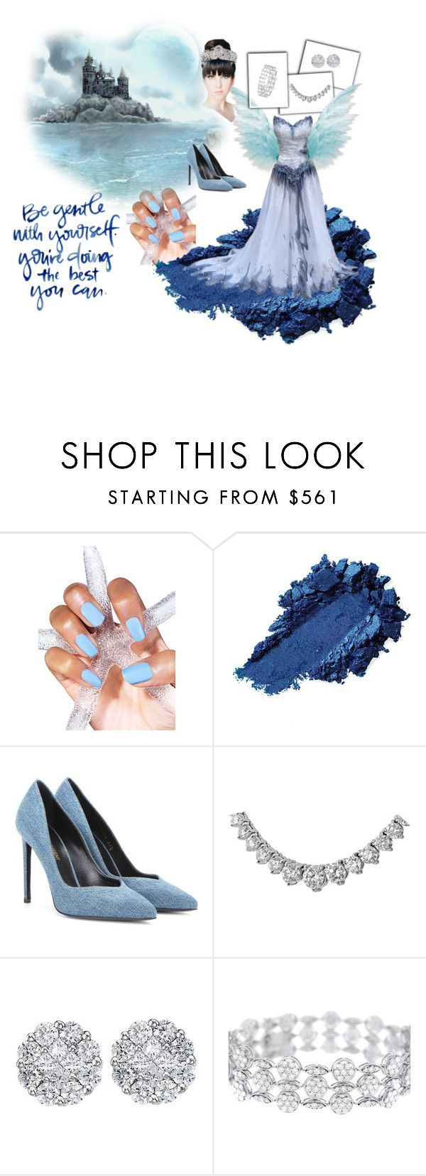 """Royale Blue"" by blackheaven on Polyvore featuring Yves Saint Laurent and Allurez"