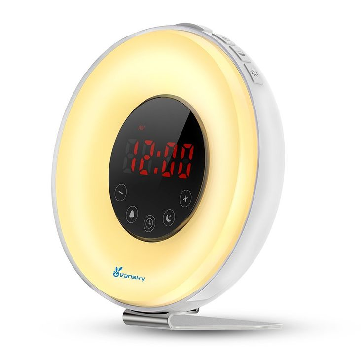 Wake Up Light, Vansky Deluxe Edition Sunrise Alarm Clock Night Light Bedside Lamp with Nature Sounds, FM Radio - Touch Control -- See this great product. (This is an affiliate link and I receive a commission for the sales)
