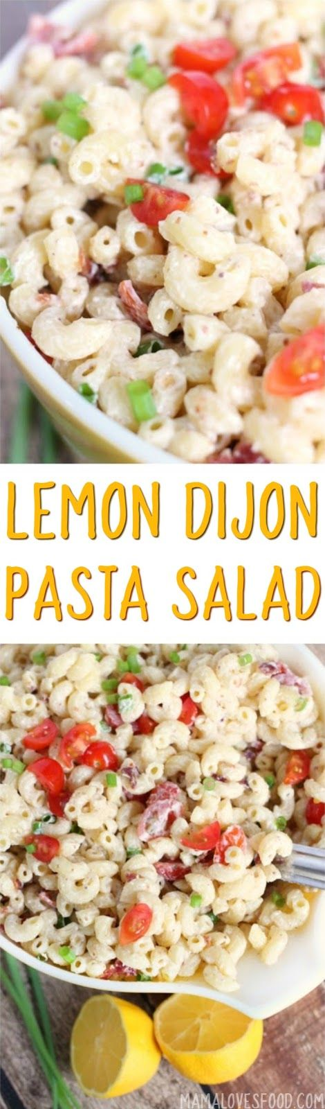 everyone loved it! will make again!!!     Lemon Dijon Bacon Pasta Salad Recipe - How to Make the Best Macaroni Salad Ever (Best Ever Pasta)