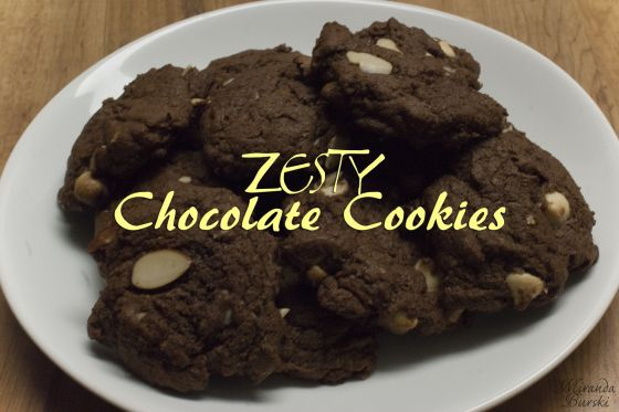 Zesty Chocolate Cookies: Crispy on the outside, but soft and chewy on the inside. The cookies are chocolaty, but with just enough orange zest to add an extra pop of flavour.