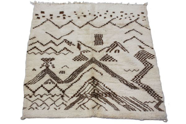 Thick Middle Atlas Carpet | Vinterior London  #wool #carpet #midcentury