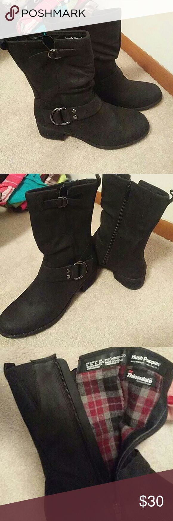 Hush Puppies thinsulate boots size 8 Got as Xmas present,  brand new and never worn, too small Hush Puppies Shoes Combat & Moto Boots