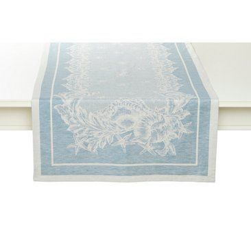 Check out this item at One Kings Lane! Mediterranean Table Runner, Blue