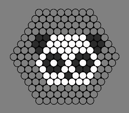 panda pixos  bead pattern