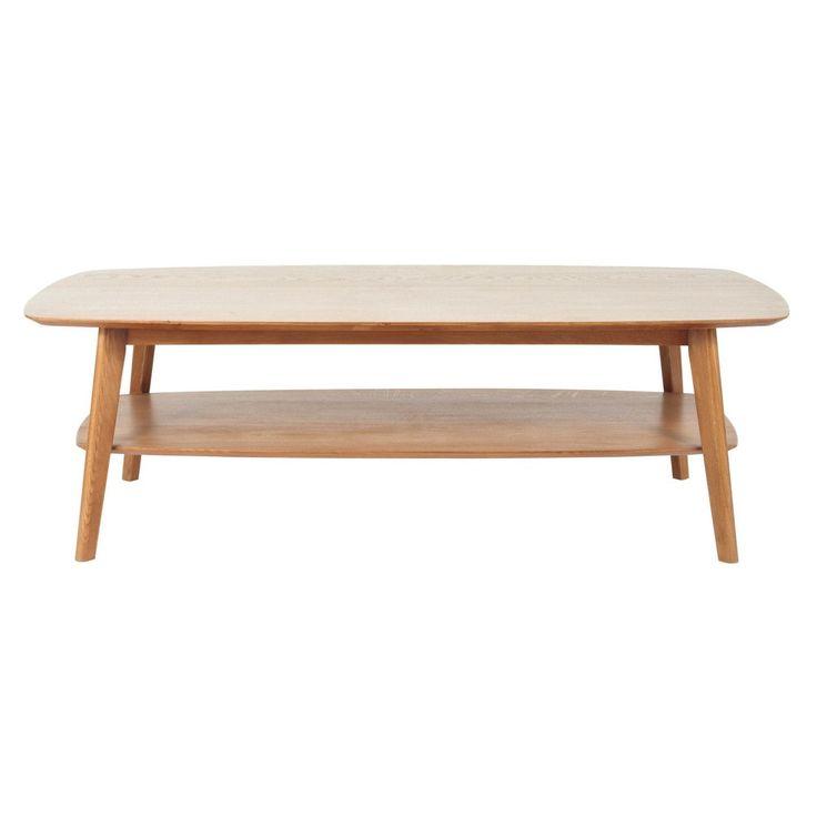 Tavolo basso in massello di quercia L 130 cm Portobello | Maisons du Monde