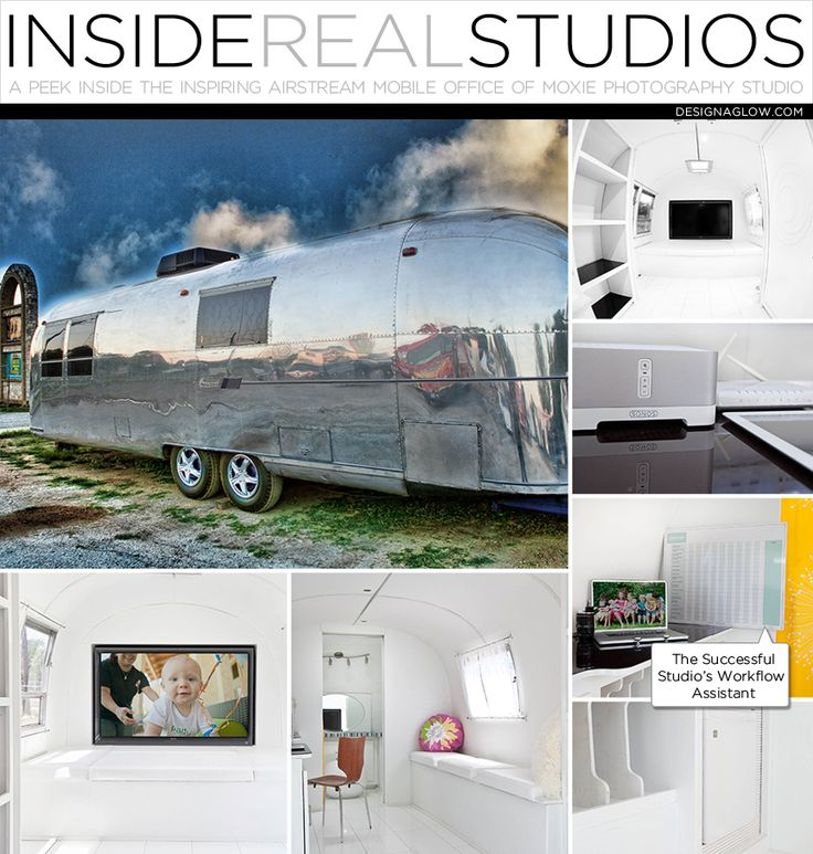 Inside Real Studios: The Mobile Airstream Office of Moxie Photography #designaglow