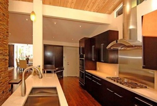 Modern Contemporary #House Design Gourmet Kitchen Design Ideas, Designs, Photos, Pictures, Images and more. Get ideas for contemporary, design, gourmet, House designs, Kitchen #designs, modern.