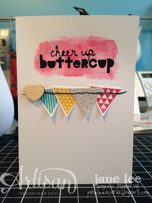 Great way to mix watercoloring with the triangle punch.Scrapbook Cards, Cards Ideas, Triangles Punch, Scrapbooking Cards, Cards Stampin, Cards Making Scrapbook, Cards Inspiration, Paper Crafts, Mixed Watercolors