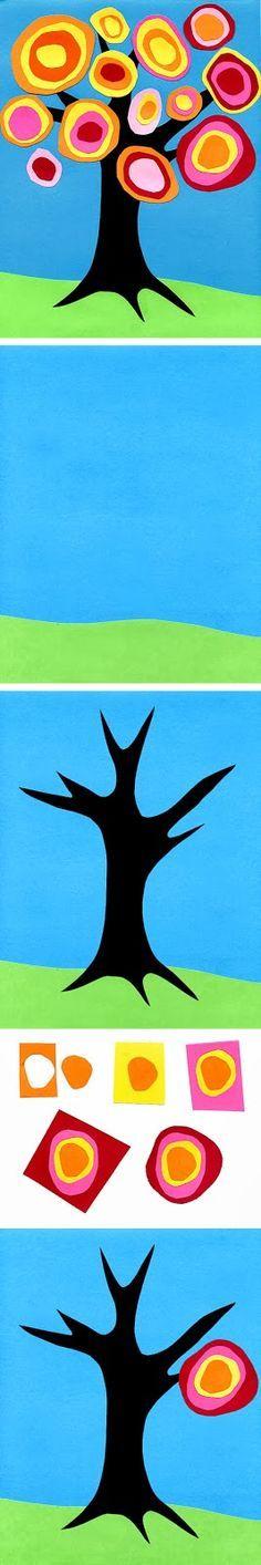 Art Projects for Kids: Kandinsky Fall Tree. #Knutselen voor kinderen