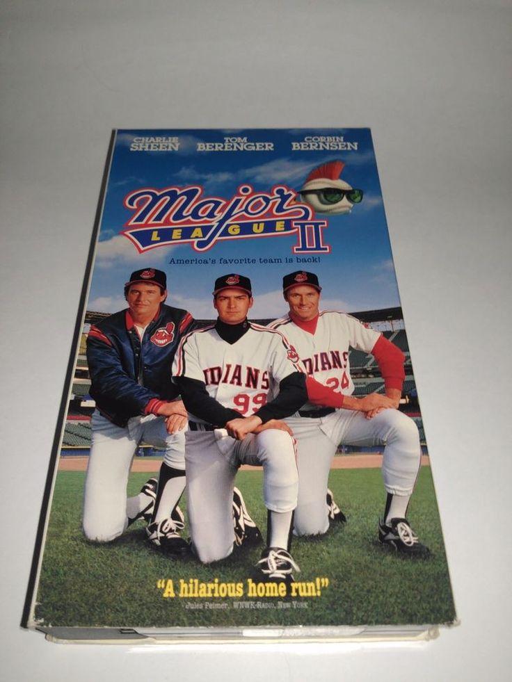 Major League 2 (VHS, 1994) Charlie Sheen, Tom Berenger, Corbin Bernsen VCR Tape
