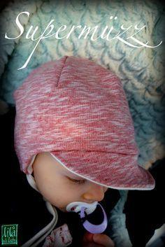 supermuezz kindermuetze freebook- Mütze mit Schirm - Schirmmütze, Bindemütze, Mütze zum binden für Babys und Kinder KU 45-54