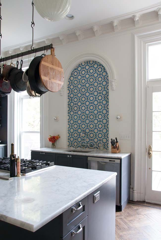 Attractive Empty Alcove In The Kitchen? Thatu0027s What Moroccan Inspired Cement Tiles Are  For U2014 Kitchen Spotlight