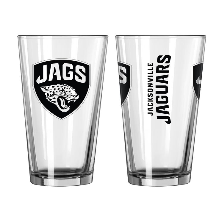 BOELTER BRANDS Jacksonville Jaguars Game Day Pint Glass 2-Pack