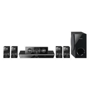PANASONIC - SCBTT400K _ Système de Home Cinéma Blu-ray 3D 5.1 - Lecture Blu-ray / DVD / CD - Compatible DivX HD / AVCHD / MP3 / FLAC / JPEG - Conversion 2D -> 3D avec contrôle effet 3D - Traitements image Adaptive Chroma, Deep Colour et x.V. Colour - Full HD Up Sampling (conversion) - Ampli numérique Clear sound Digital - Traitement audio Tube Sound - BD Live - Viera Connect (Internet@TV: Youtube, FaceBook, VOD, etc.) - Fonction DLNA (DMP/DMR) -