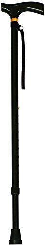 Adjustable Folding Cane with Carrying Case, Black Ultralight Nordic Walking Sticks Telescopic Trekking Poles Anti Shock