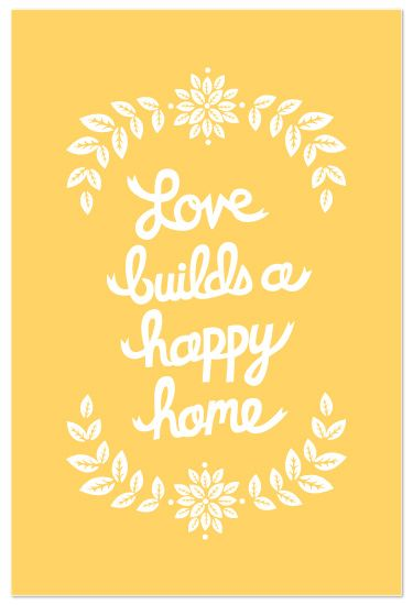Love Builds a Happy Home: Quotes, My Sons, My Husband, Art Prints, House, Living, Families, Silhouette Cameo, Happy Homes