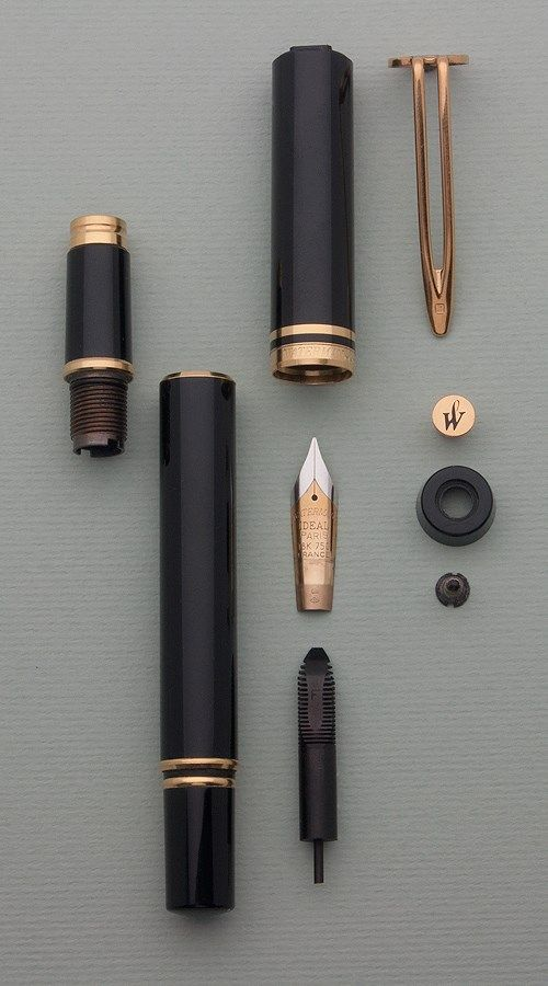 All the parts that make up this Waterman!