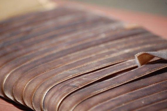 velvet taupe ribbon #taupe #ribbon #velvet