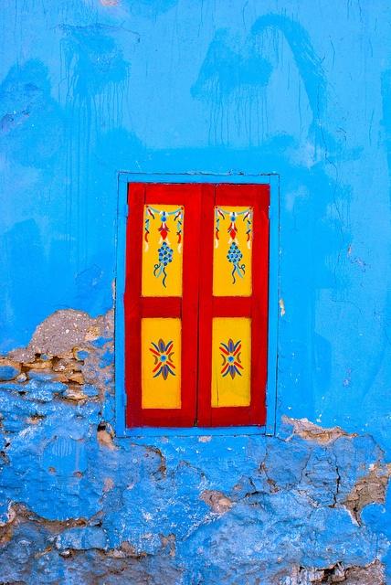 Lost window. Rhodes Greece