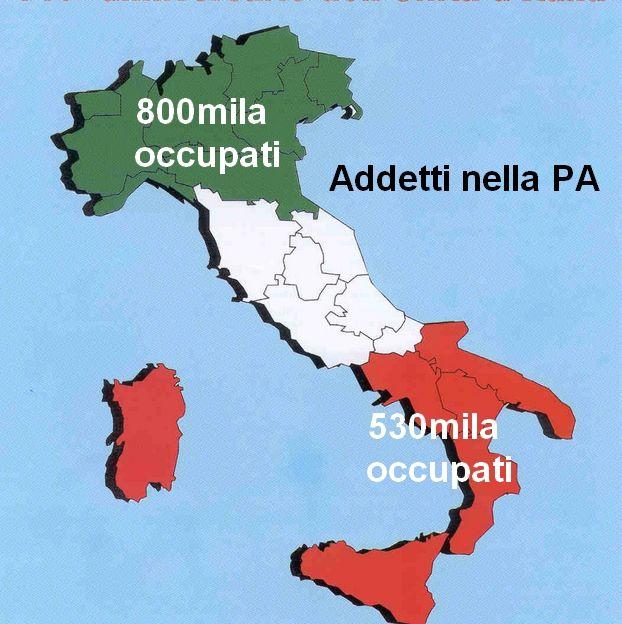 P.A., SVIMEZ: al Sud 530mila occupati contro 800mila del Nord