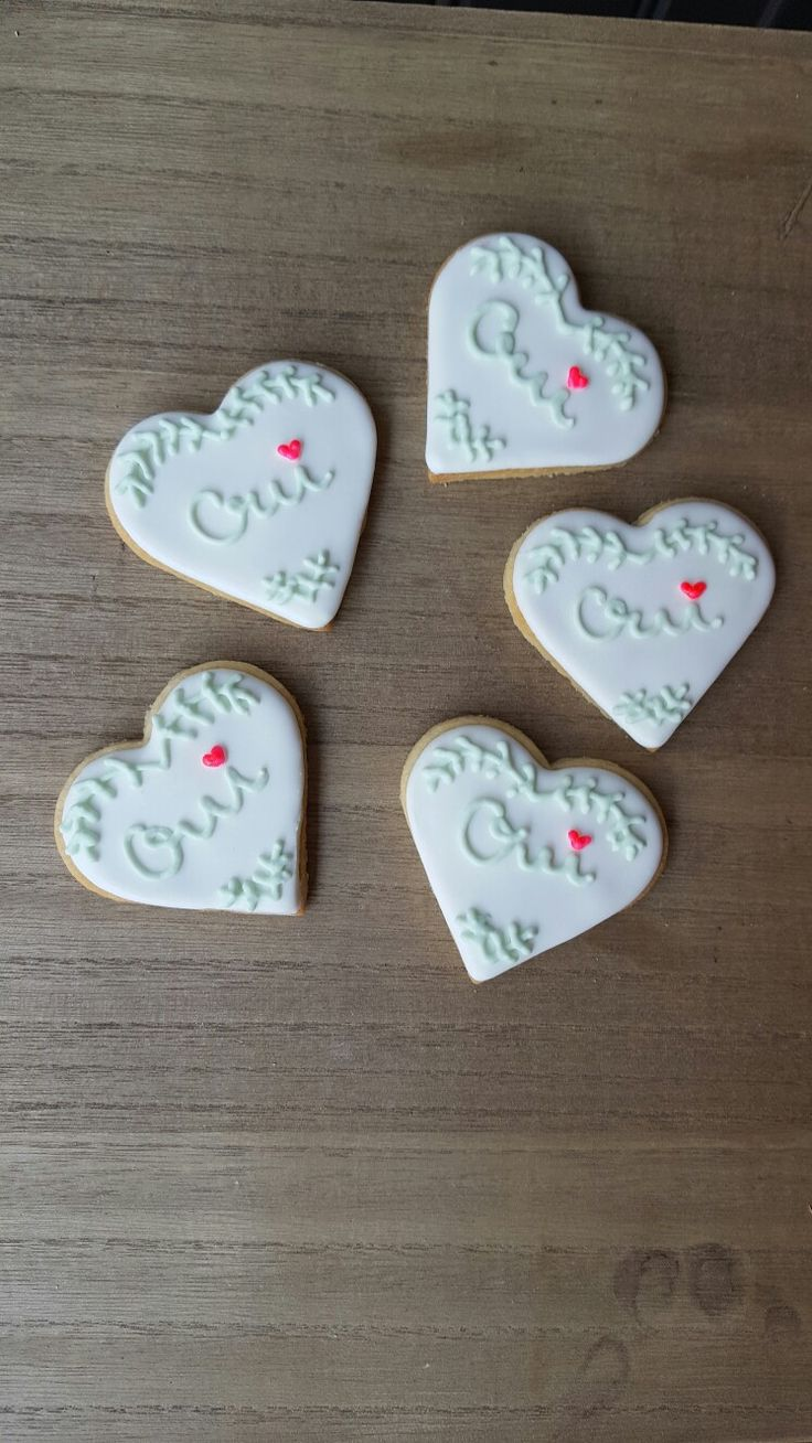Wedding Day  I say OUI with my icing cookies made by Maison Germain France