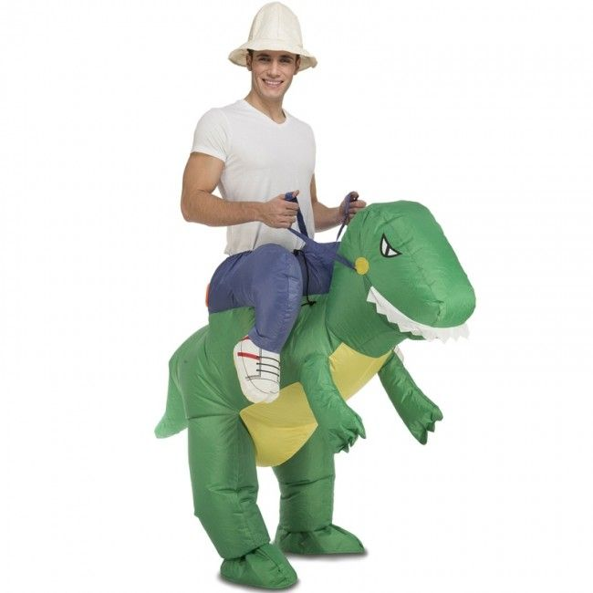 Disfraz Dinosaurio a hombros para adulto #disfracesnovedades #disfracesahombros #disfracescarryme
