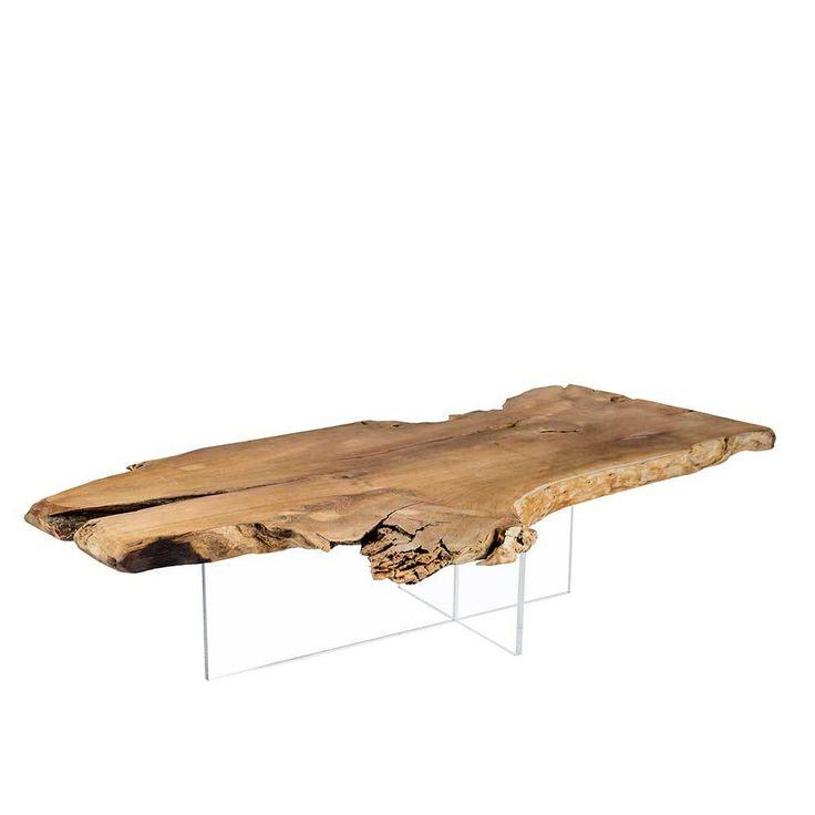Design Couchtisch Aus Teakholz Planke Acrylglas Jetzt Bestellen Unter