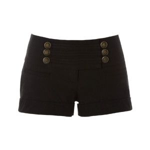military button shorts