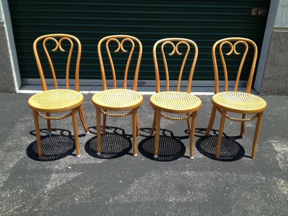 Vintage Bentwood Thonet Cane Cafe Chairs 10% OFF Cyber Monday Sale On Etsy,  $650.00