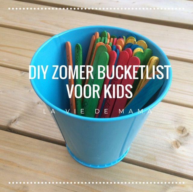 DIY: De zomer bucket list voor kids! – La vie de Mama