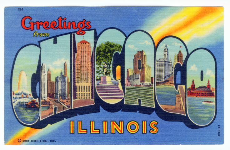 greetings from postcards | Greetings From Chicago Illinois - # 154