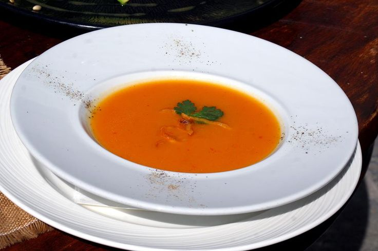 Sweet pumpkin soup with curry flavored with coriander Paparouna Wine Restaurant & Cocktail Bar | Our proposal menu for Sunday!!!