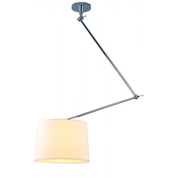 670zl ADAM S WHITE PENDANT MD2299-S WH - Lampa sufitowa na wysięgniku z ruchomym ramieniem Azzardo - Light-House.pl