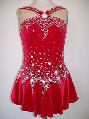 Competition Ice Figure Skating dress/Twirling Costume/Dance Outfit Made To Fit