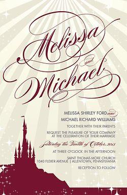 Cinderella Theme Wedding | Wedding Invitation Package | Cinderella Themed | ... | Disney Wedding