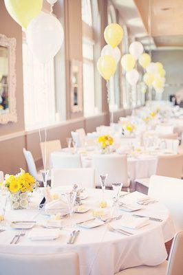 a pop of yellow!    #wedding #yellow #reception