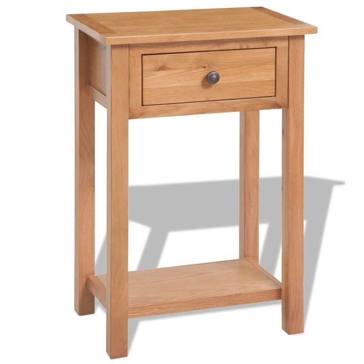 Home Bedside Cabinet Table Bedroom Nightstand Furniture Wooden Shelf Drawer Oak #HomeBedsideCabinet