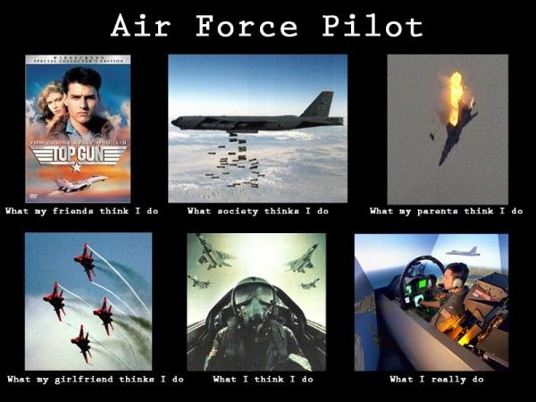 What does an air force pilot do?