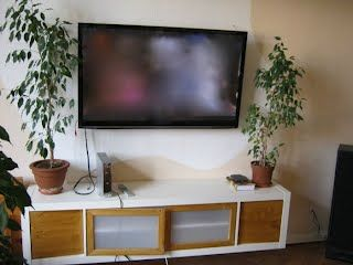 Expedit 1×5 TV Rack with wooden doors - IKEA Hackers