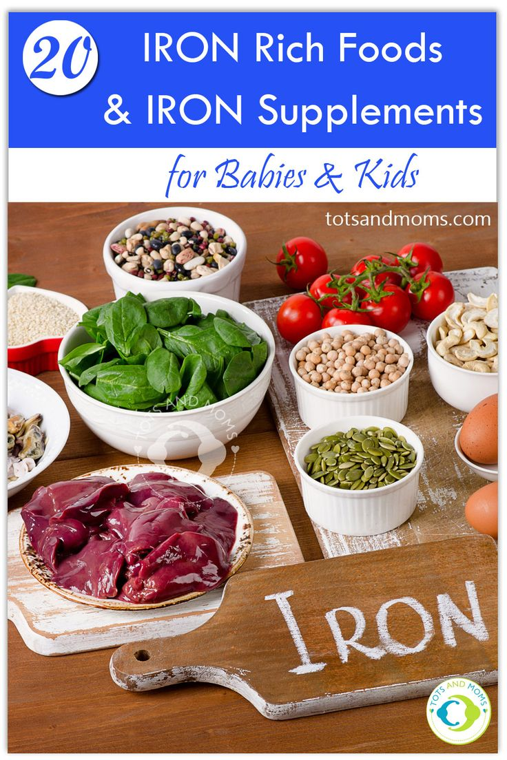 20 Iron Rich Foods and Iron Supplements for Babies & Kids