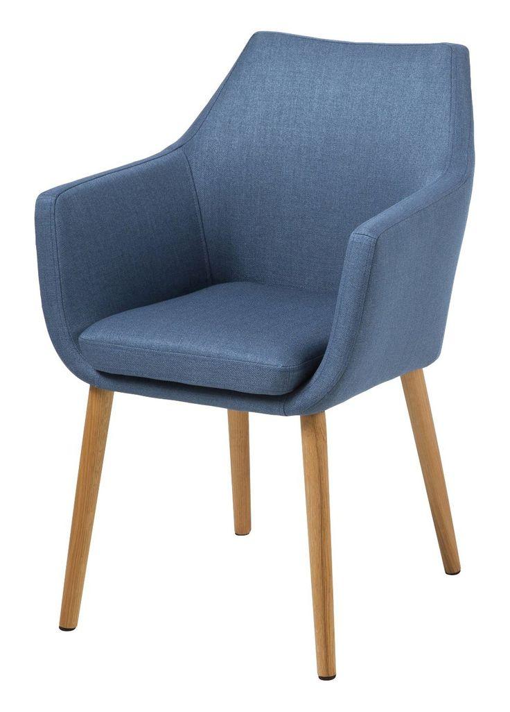 AC Design Furniture, 59329, Sedia con braccioli Trine, 58 x 58 x 84 cm, seduta in stoffa, Blu (Blau): Amazon.it: Casa e cucina