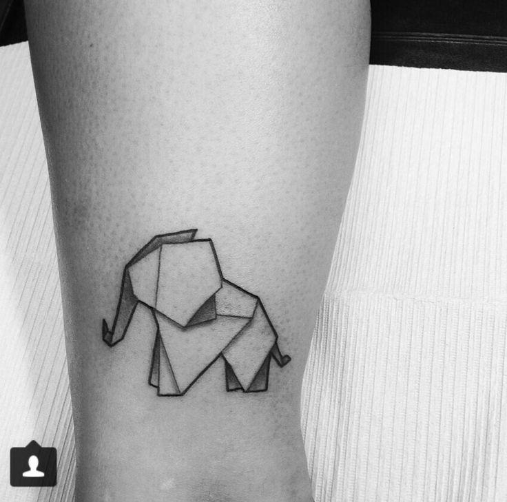 tattoo elefante origami