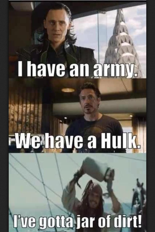 Avengers and Pirates - Geek Humor. I hate to say this, but those lines just got a million times funnier :D