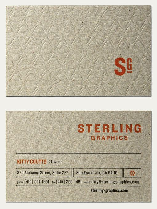 22 best business card ideas cases images on pinterest business sterling graphics business card in orange reheart Gallery