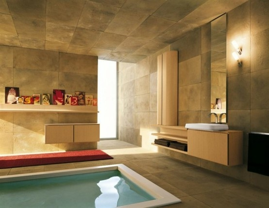Amazing Bathroom Ideas Also A Ceiling In Marble Stone In Soft Brown