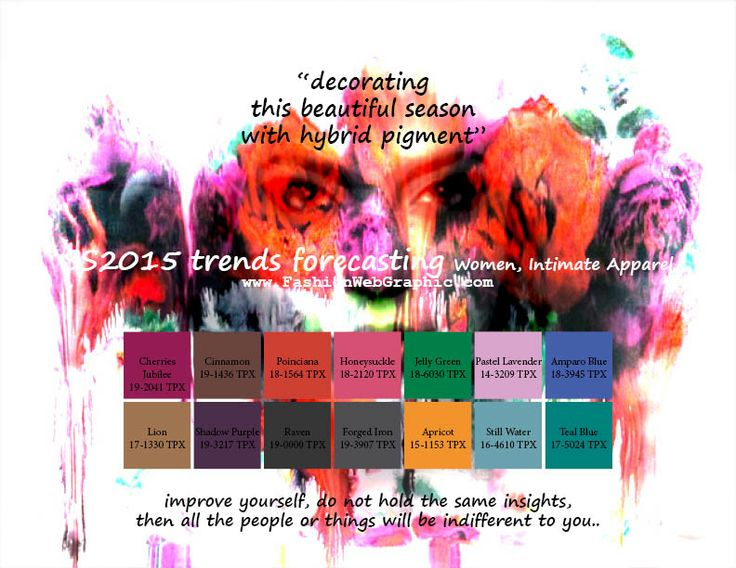 SS2015 trends forecasting for Women, Intimate Apparel - decorating this beautiful season with hybrid pigment. www.FashionWebGraphic.com