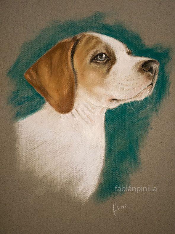Pintura a Santiago. 27 x 38 cm Pastel Seco.