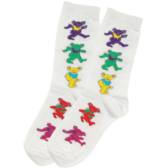 GRATEFUL DEAD Dancing Bears Socks  #gratefuldead #dancingbears #rockabilia #licensedmerchandise #merchandise #merch #footwear #shoes #sandals #socks #slides #flipflops