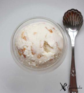 Gourmandise sorvete de kefir mel e amêndoa